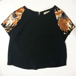 SugarLips Black and Sequin Top